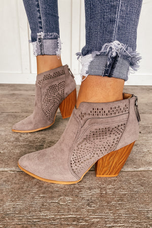 Austin Suede Booties - LURE Boutique