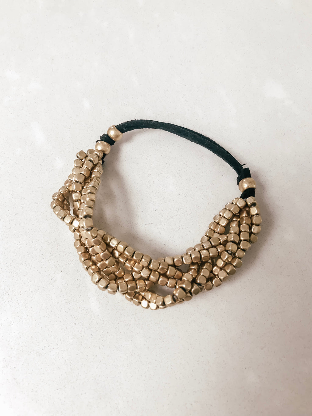 Twisted Gold Layered Bracelet
