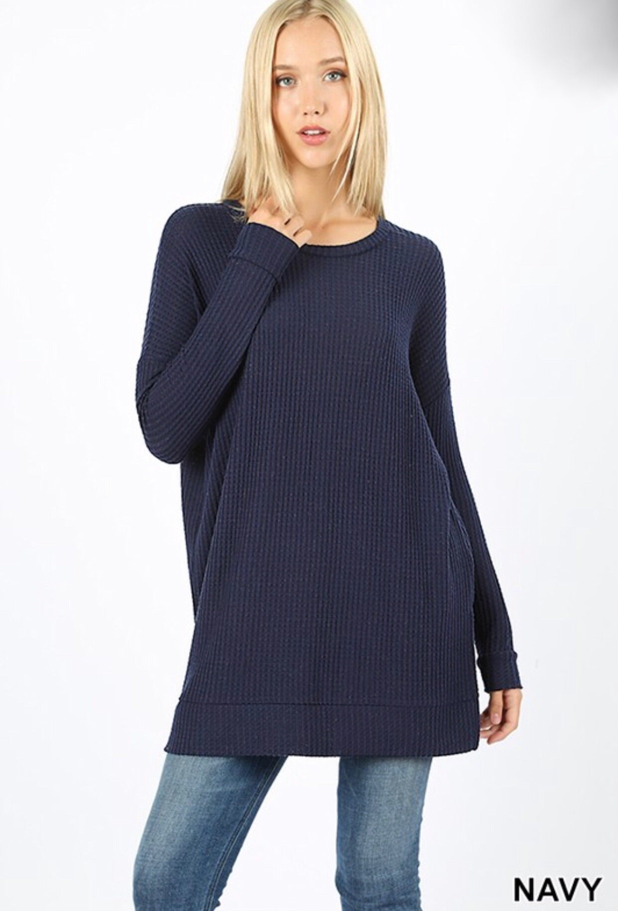 Layer Me Up Waffle Tunic (4 colors)