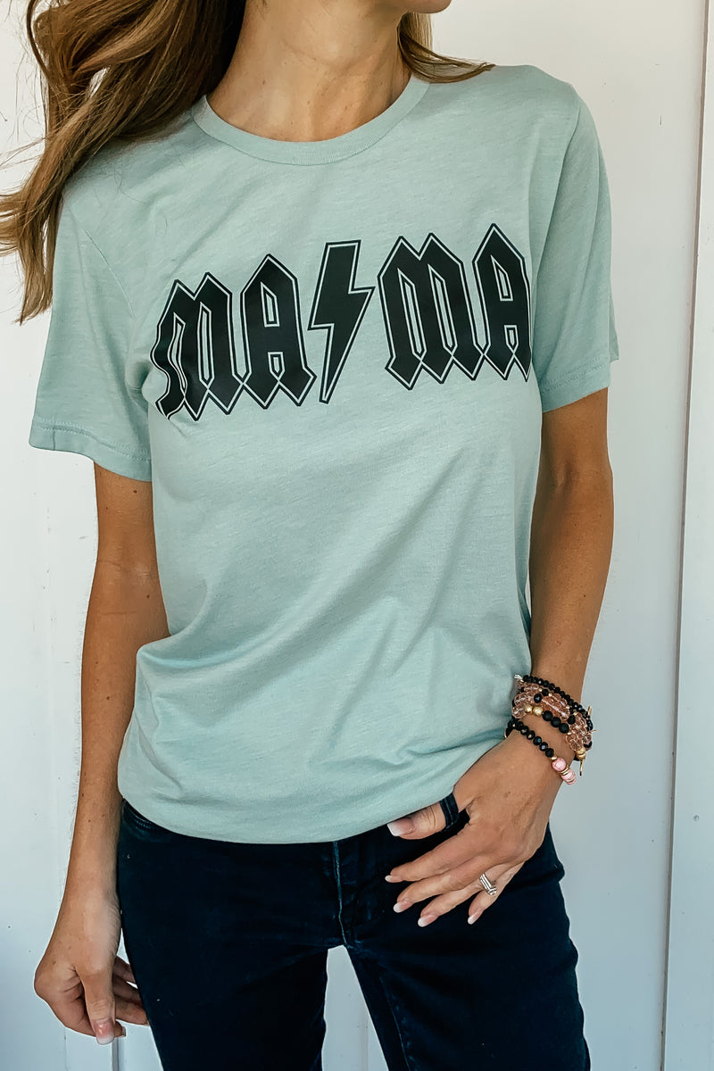 Rock N Roll Mama Graphic Tee (Also in Plus)