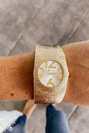 The Textured Gold Cuff Watch