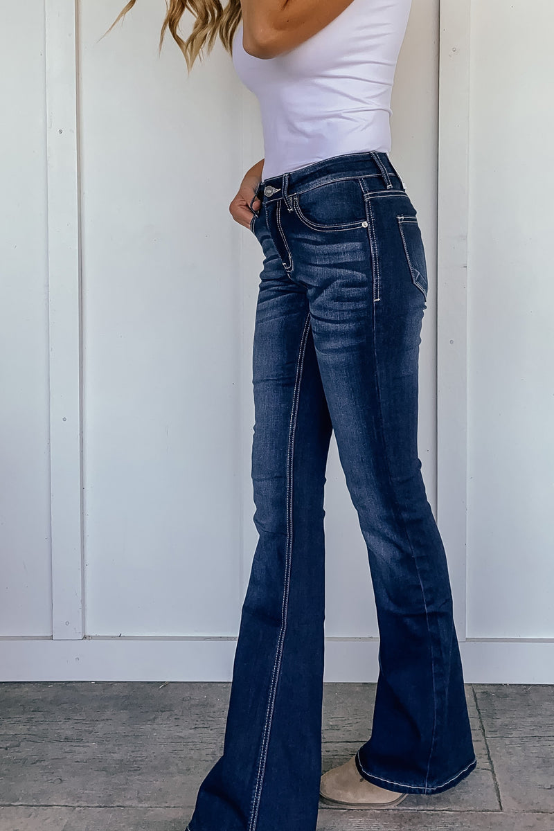 Ashley Mid Rise Flares - LURE Boutique
