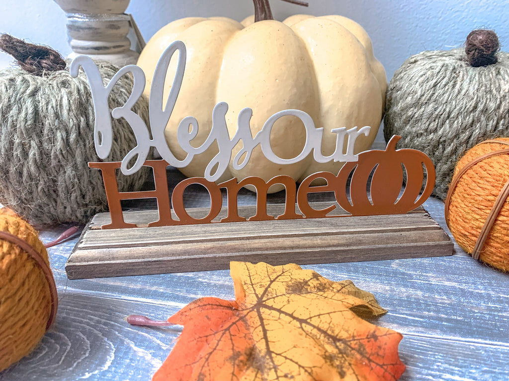 Bless Our Home Tabletop Sign - LURE Boutique