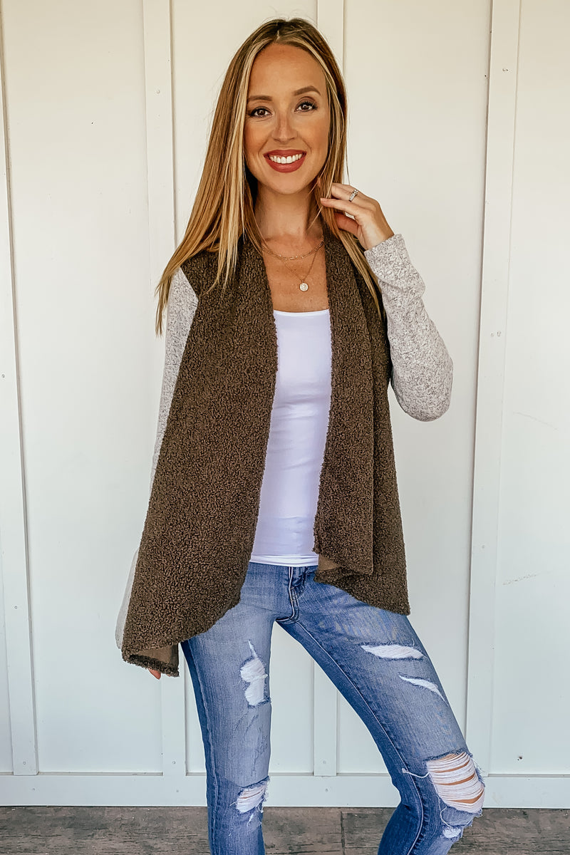 Teddy Bear Open Cardigan