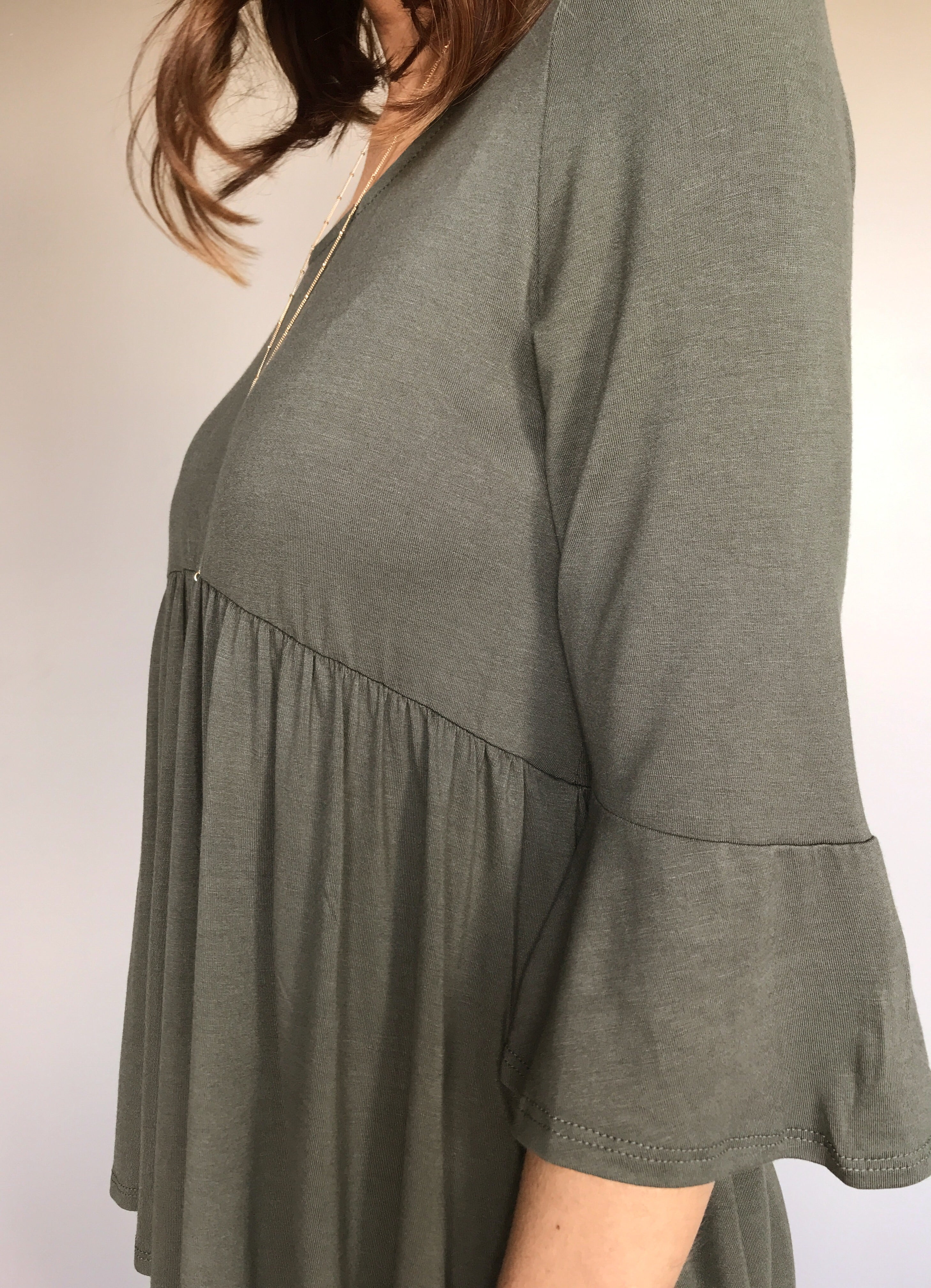 The Olive Babydoll Top (S-3XL)