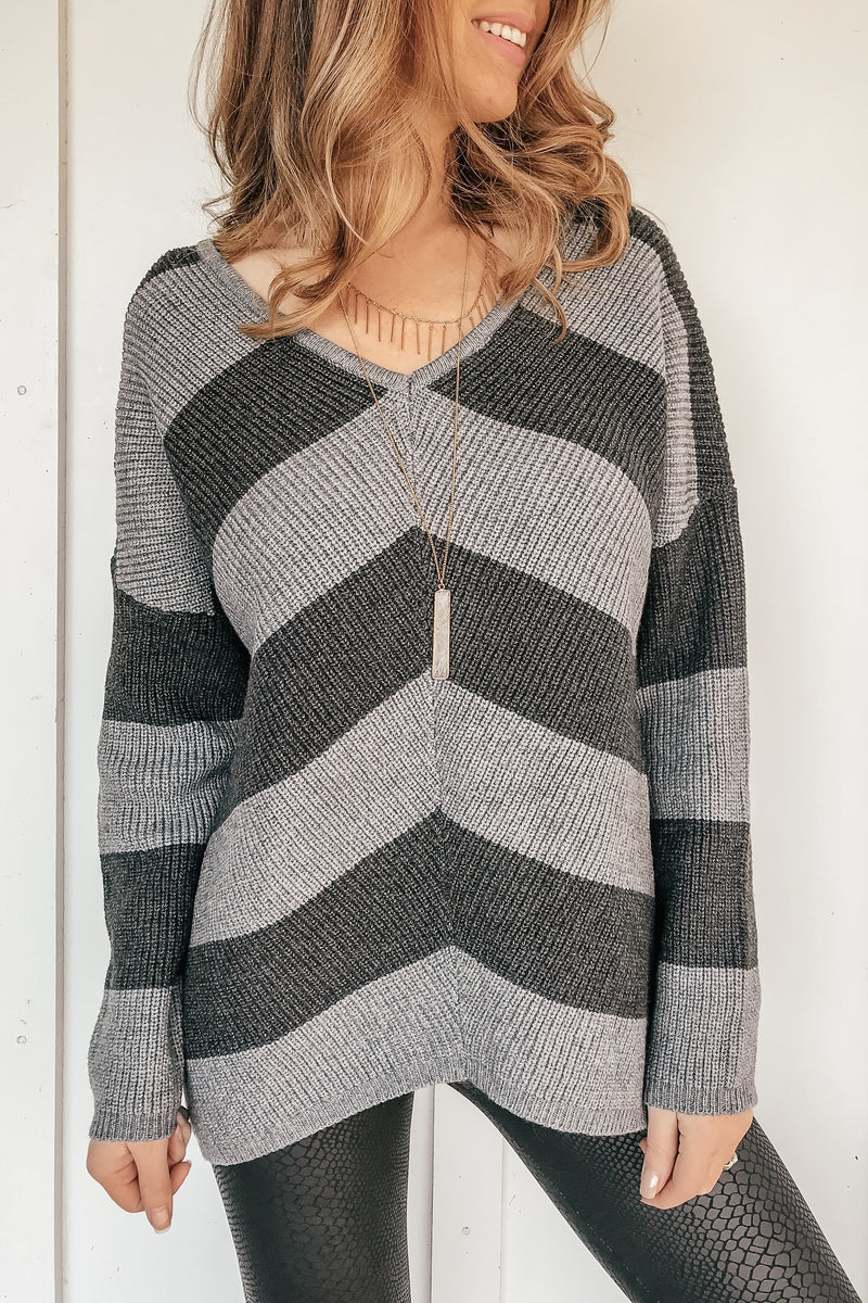 All You Need Two Tone Sweater