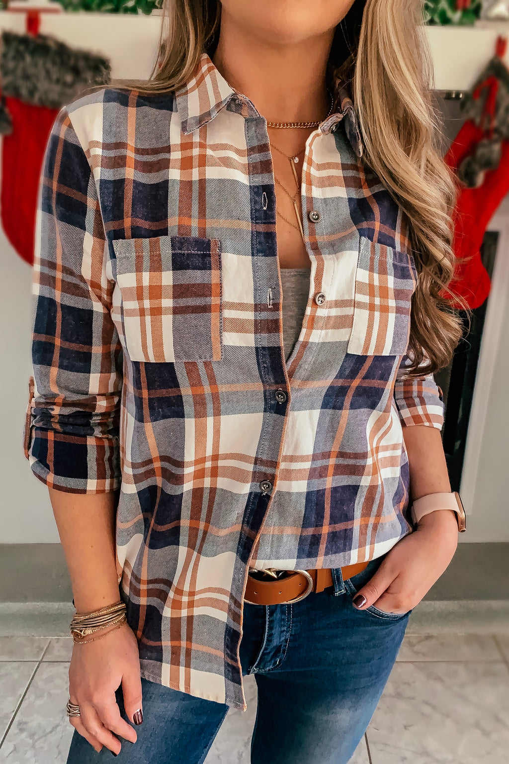 Rae Plaid Button Down