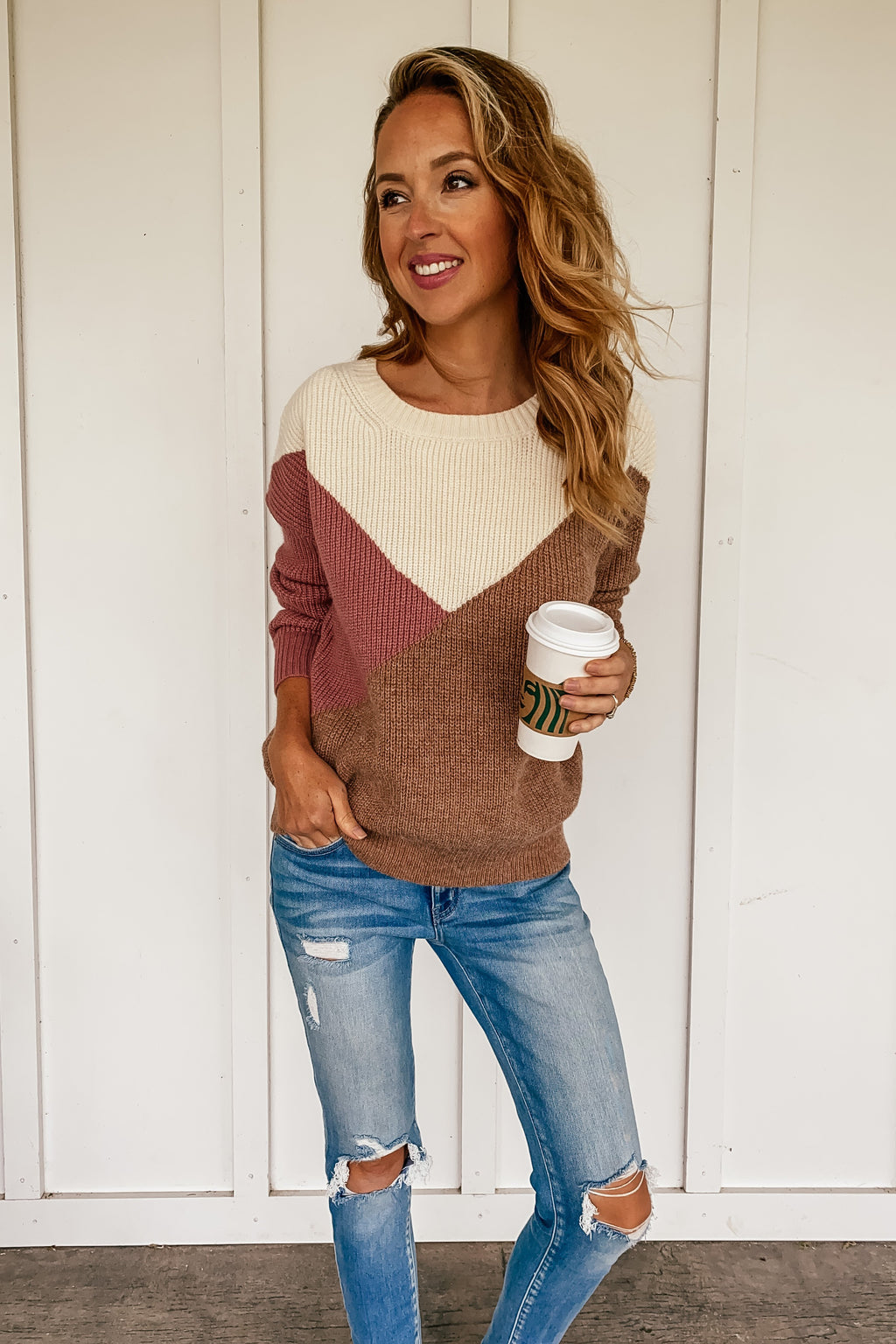 Coffee Date Pullover Sweater - LURE Boutique