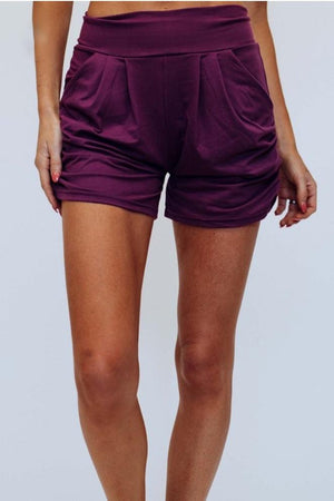 Comfy Soft Summer Shorts in Purple