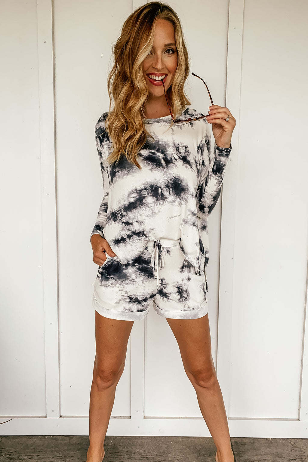 Girls Night Tie Dye Lounge Set - LURE Boutique