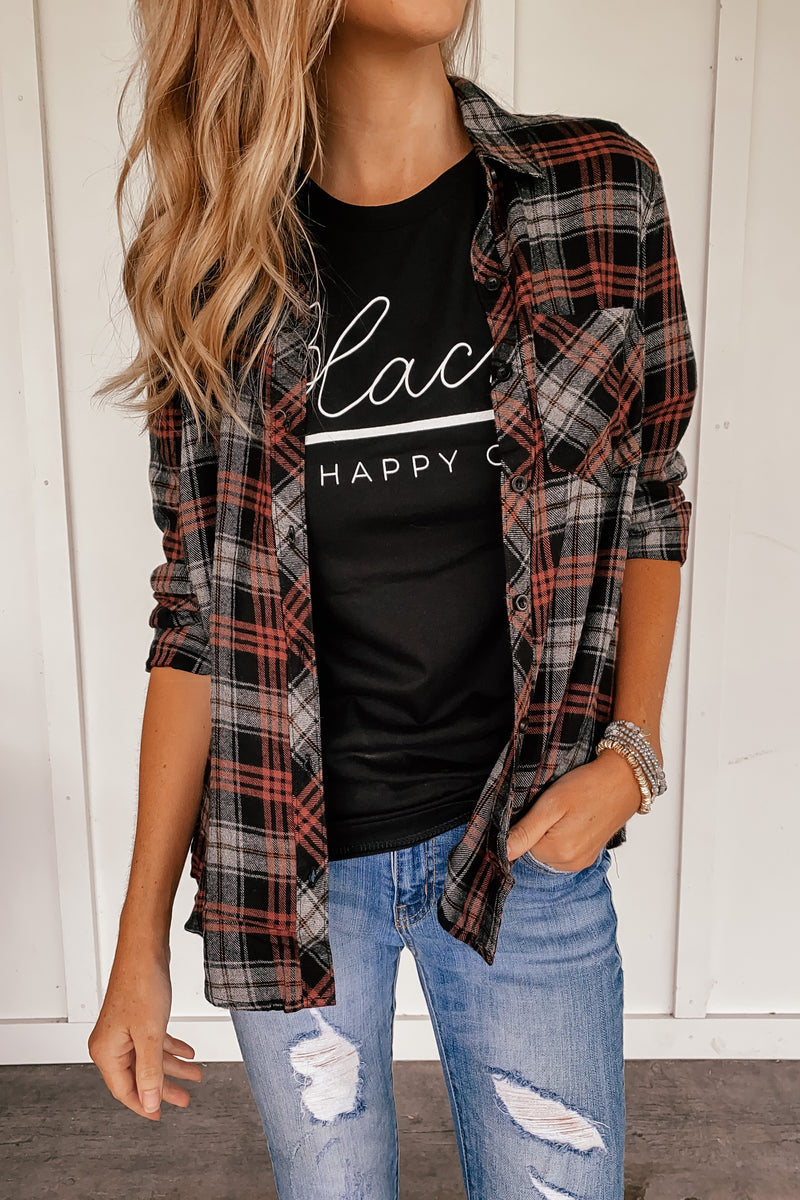Black is My Happy Color Tee - LURE Boutique