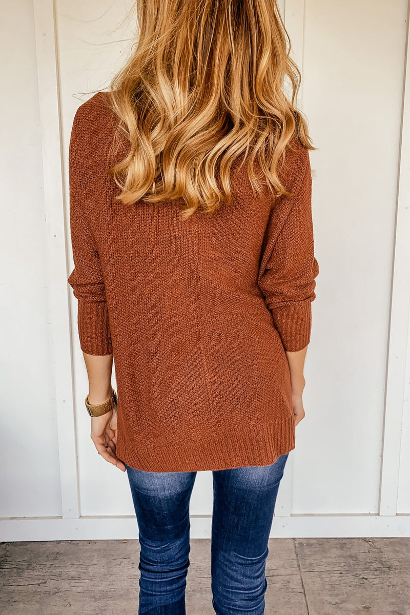 The Sydney Sweater in Rust