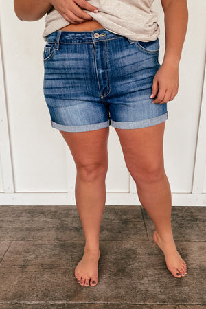 The Ellee High Rise Kancan Shorts in PLUS