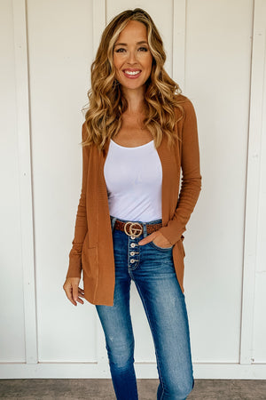 The Phoebe Cardigan in Camel - LURE Boutique