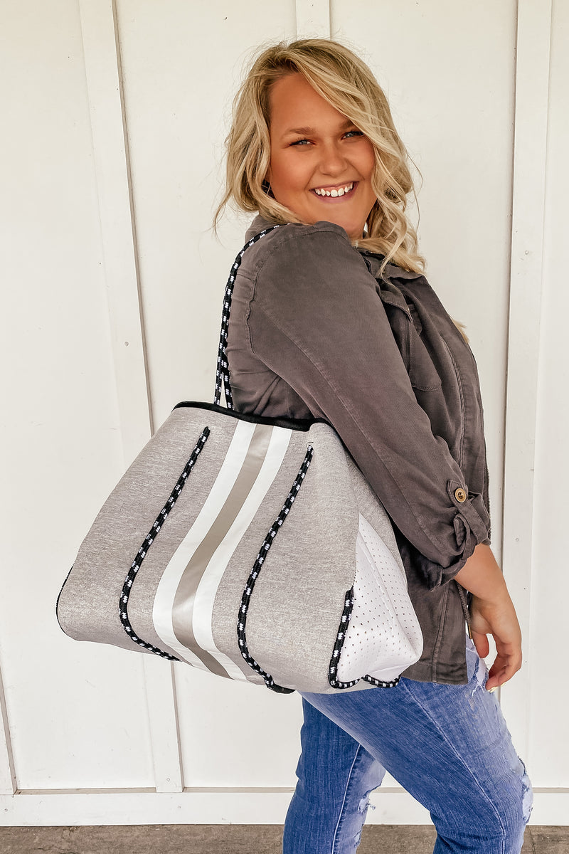 Heather Grey Neoprene Tote