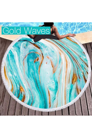 Microfiber Round Beach Towels (Several Styles) - LURE Boutique