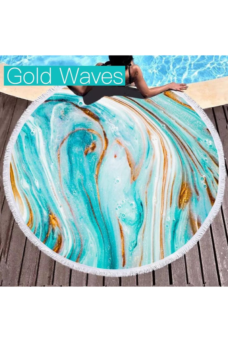 Microfiber Round Beach Towels (Several Styles)