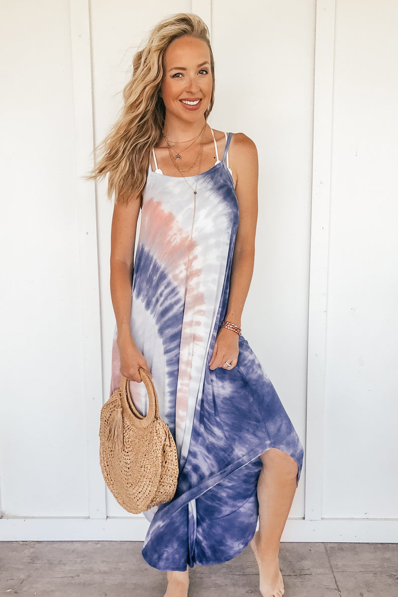 Beach Babe Tie Dye Maxi - LURE Boutique