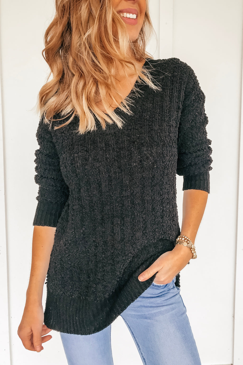 The Lauren Popcorn Cable Knit Sweater