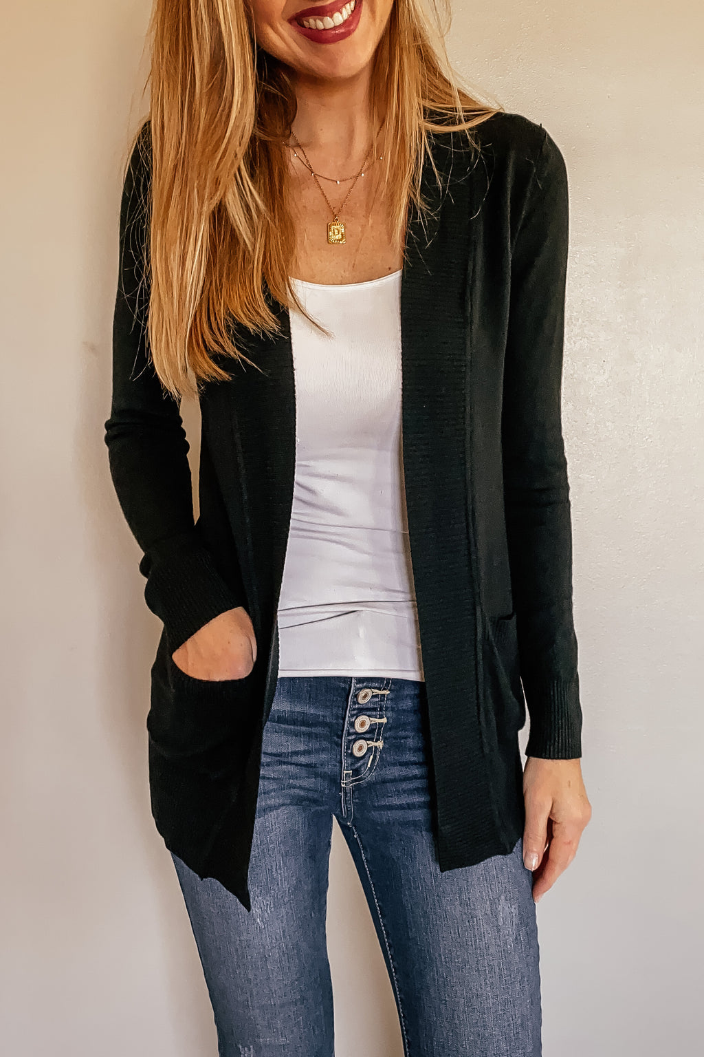 The Phoebe Cardigan in Black