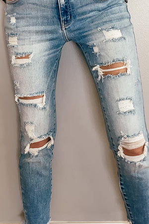 The Kendall Skinny Distressed Jeans