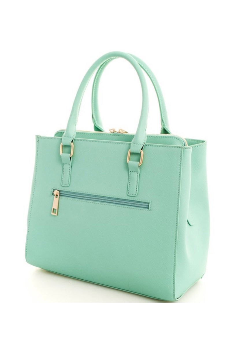 The Kimberly Vegan Leather Bag in Mint