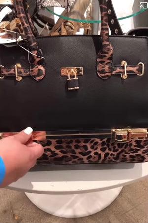 Leopard Luxe Bag with Wallet
