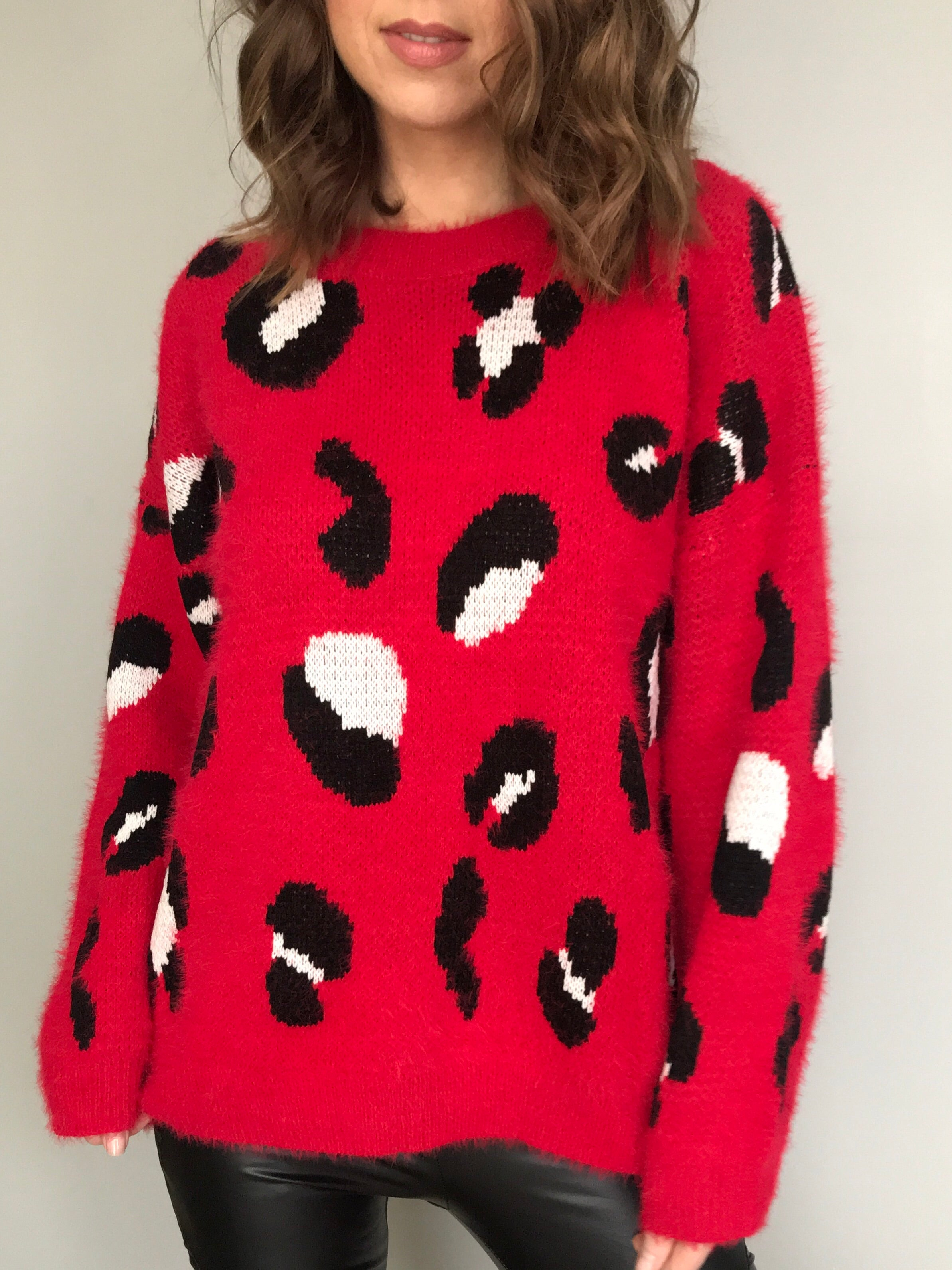 Red Hot Leopard Sweater