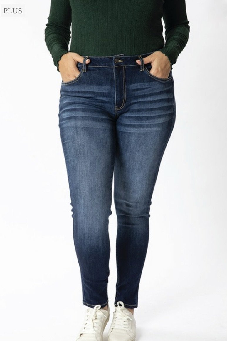 Avery Dark Wash Denim - PLUS - LURE Boutique