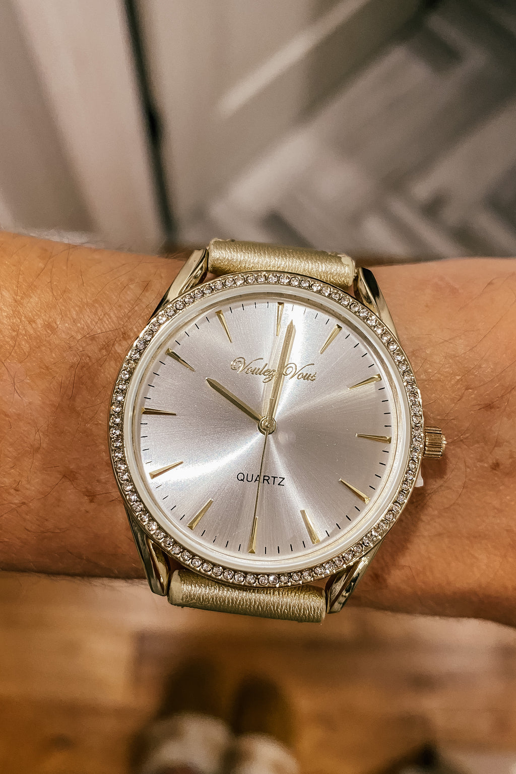 Crystal and Gold Classic Watch