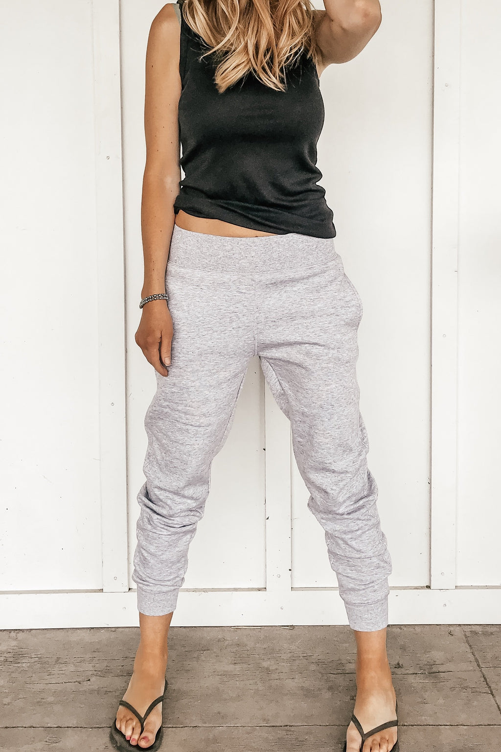 Back to the Basics Joggers in Gray and Black - LURE Boutique