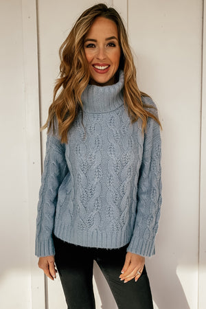 Blue Skies Knit Turtleneck