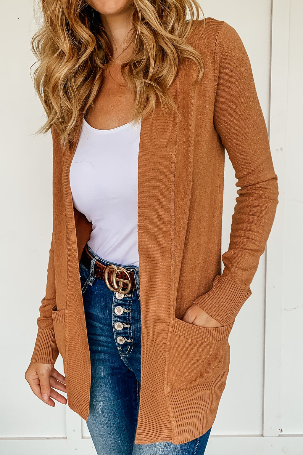 The Phoebe Cardigan in Camel