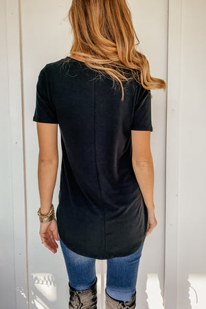 The Perfect V-Neck in Black