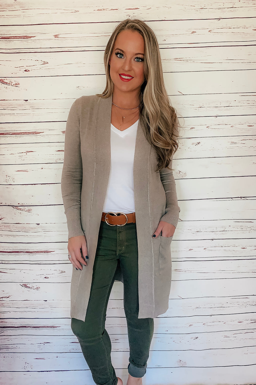 JoJo Cardigan - Mocha - LURE Boutique