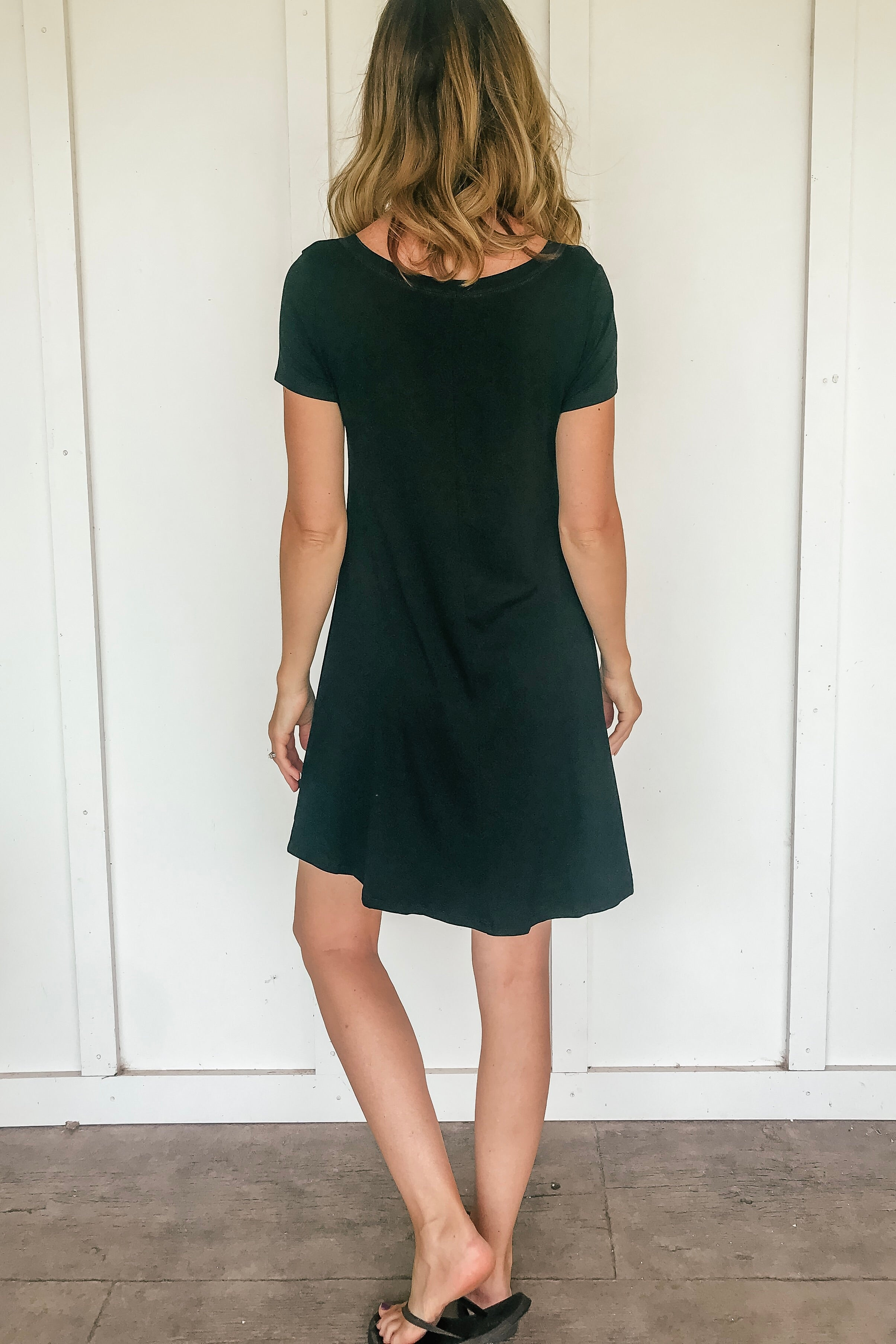 Stacy T-Shirt Dress in Black