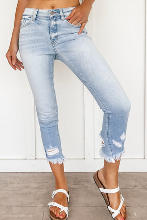 High Rise Light Washed KanCan Skinny Jeans - LURE Boutique