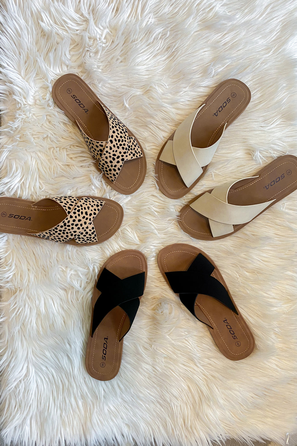 Casual X Strap Sandals (3 Colors)