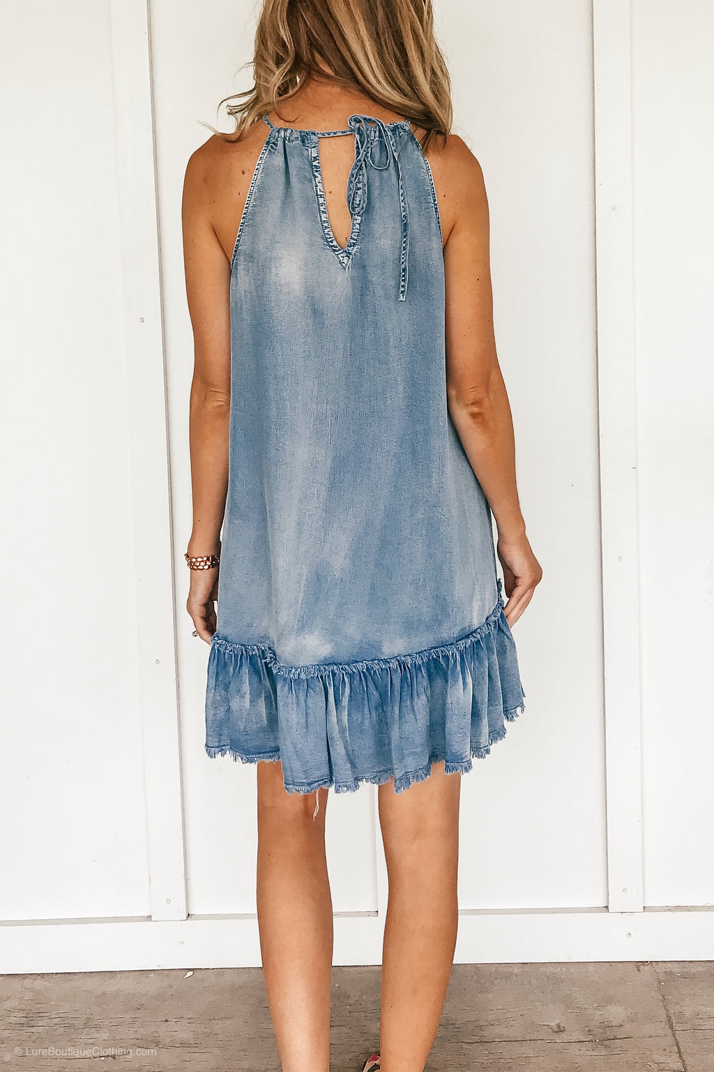 The Chambray Halter Dress
