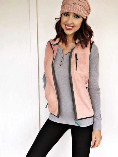 Kyler Fleece Zip Up Vest