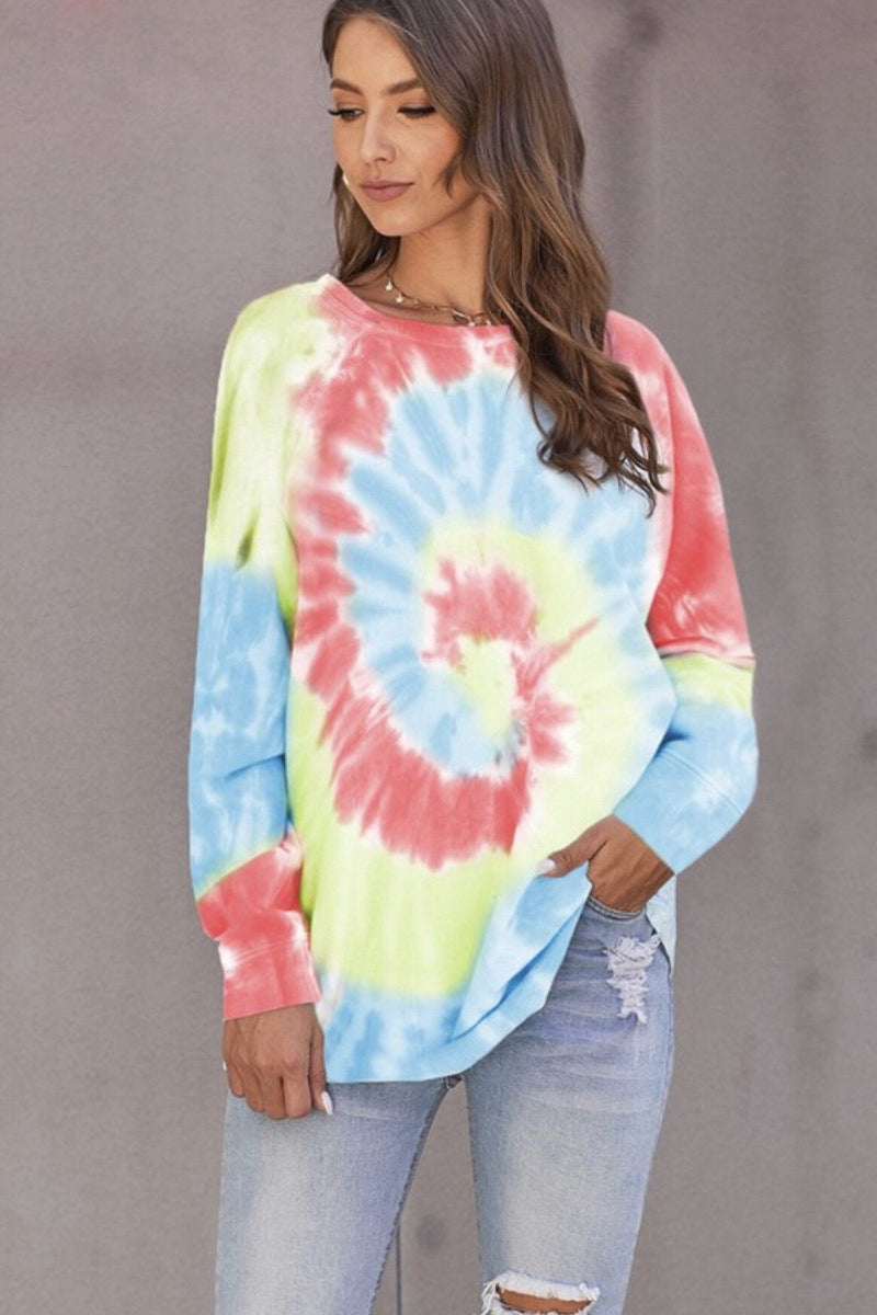 Tie Dye Long Sleeve (4 Colors. S-2XL)