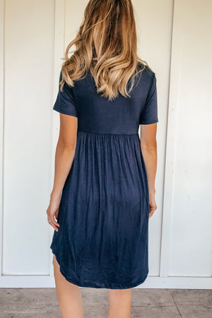 Simply Pretty Navy Midi Dress