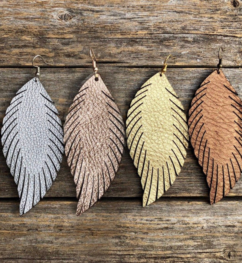 Laser Cut Feather Earrings (4 options) - LURE Boutique