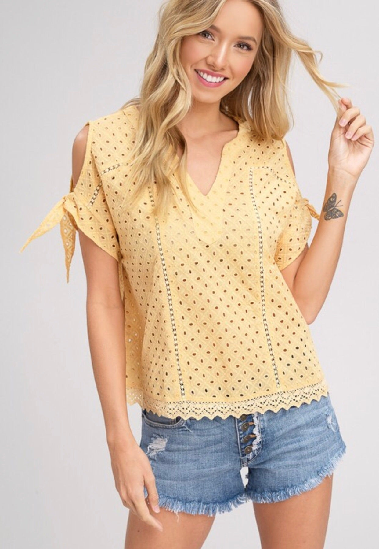 The Emilia Embroidered Eyelet Top