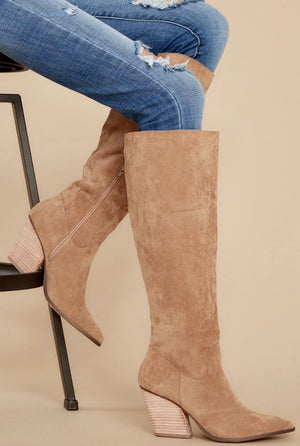 The Lacey Knee High Western Bootie