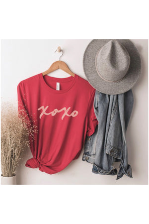XOXO Tee in Red