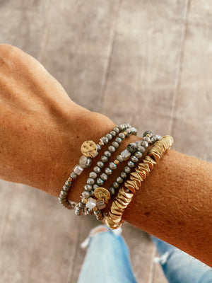 Glass and Gold Bracelet Set - LURE Boutique