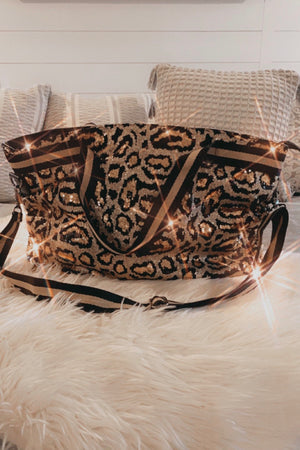The Glam Leopard Sequins Bag