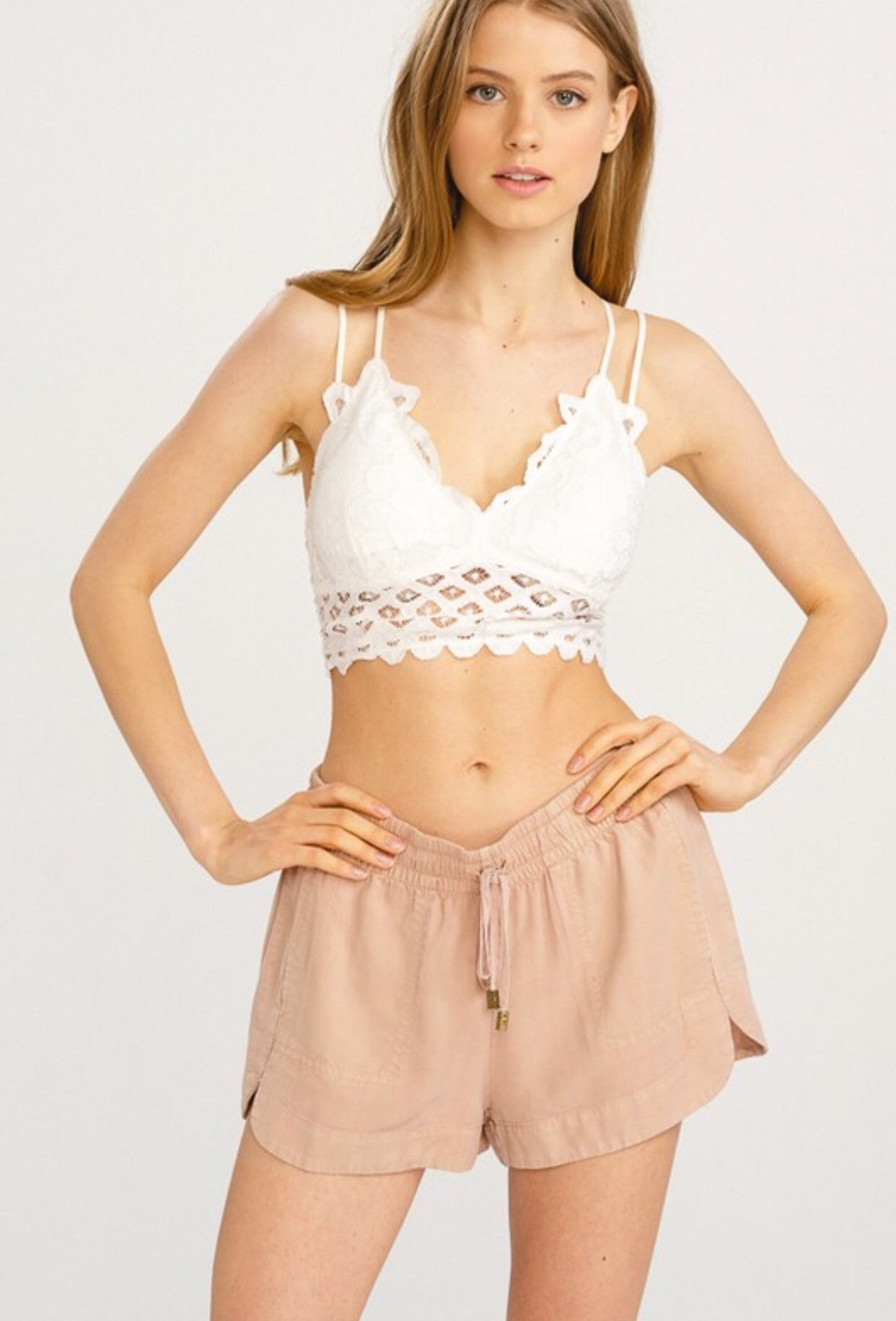 Scalloped Lace Bralette - Many Colors