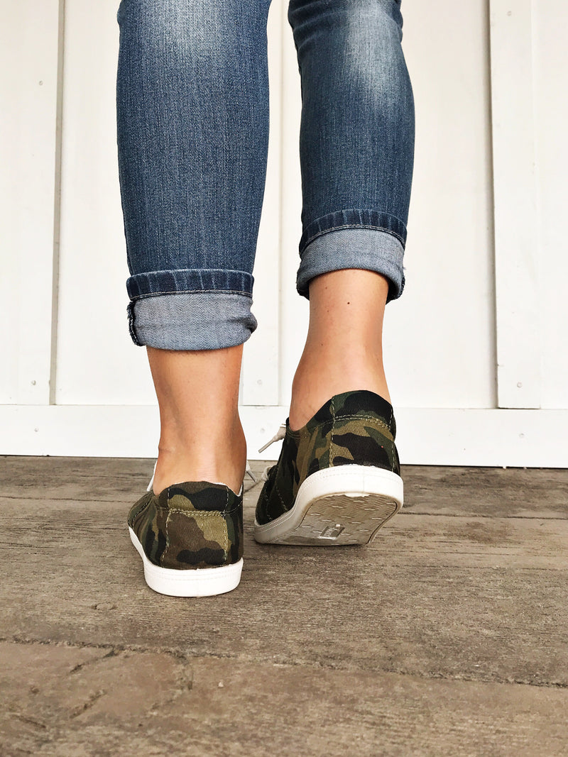 Keeping It Casual Sneakers in Camo - LURE Boutique